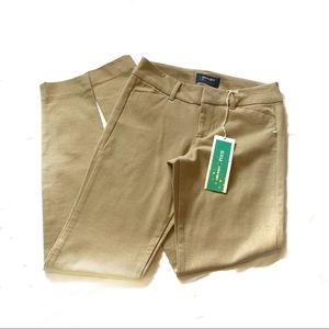 Old navy pixie pants full length tan New